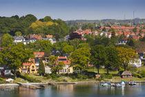 Denmark, Funen, Svendborg, elevated town view von Danita Delimont