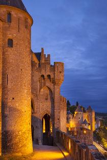 Medieval town of Carcassonne, Languedoc-Roussillon, France von Danita Delimont
