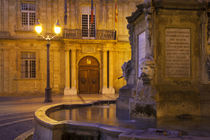 Fountain and front facade of Hotel de Ville at Place de l'Ho... von Danita Delimont