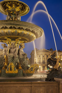 Fontaine des Fleuves, Fountain of Rivers in Place de la Conc... by Danita Delimont