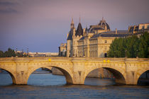 Setting sunlight over River Seine, Pont Neuf and the Concier... by Danita Delimont