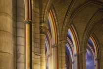 Arches and ceiling details in Cathedral Notre Dame, Paris, France. von Danita Delimont