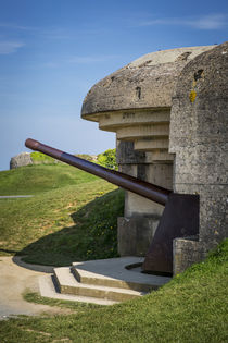 German 150mm gun at the Longues-sur-Mer Battery, part of the... by Danita Delimont