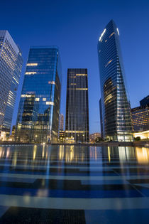 Modern buildings of La Defense, Paris, France. by Danita Delimont