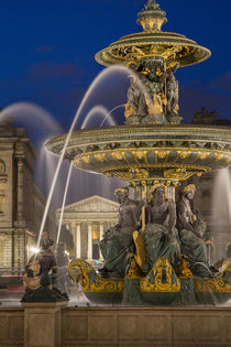 Fontaine des Fleuves, Fountain of Rivers at Place de la Conc... by Danita Delimont