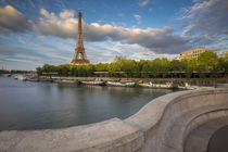 Setting sunlight on Eiffel Tower and River Seine, Paris, France by Danita Delimont