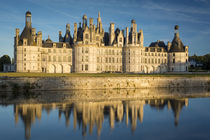 Sunset over the massive, 440 room, Chateau de Chambord, Loir... by Danita Delimont