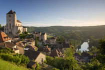 Early morning over Saint-Cirq-Lapopie, Lot Valley, Midi-Pyre... by Danita Delimont