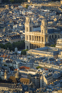 Overhead view of Eglise Saint Sulpice, Paris, France by Danita Delimont