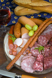Selection of French meat and sausages, France, French cooking by Danita Delimont