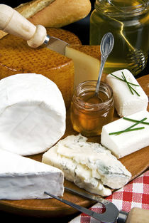French cheeses and honey by Danita Delimont