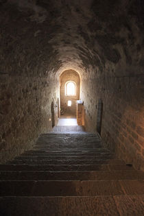 Narrow corridors inside the Abbey of Mont San Michel monaste... by Danita Delimont