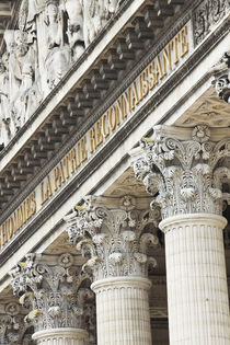 Architectural detail of the Pantheon in the 5th Arrondisseme... by Danita Delimont