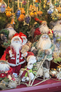 Christmas decorations at Christmas Market, Nuremberg, Germany by Danita Delimont