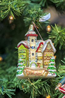 Christmas ornament for sale, Rothenburg, Germany von Danita Delimont