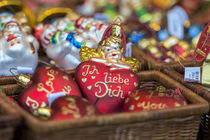 German glass Christmas 'I Love You' ornaments, Rothenburg, Germany by Danita Delimont