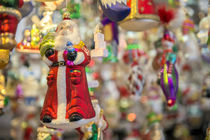 Traditional glass ornaments at Christmas Market, Bamberg, Germany by Danita Delimont