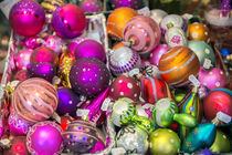 Traditional glass ornaments at Christmas Market, Bamberg, Germany von Danita Delimont