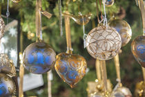 Ornate glass Christmas ornaments at Christmas Market, Nuremb... by Danita Delimont
