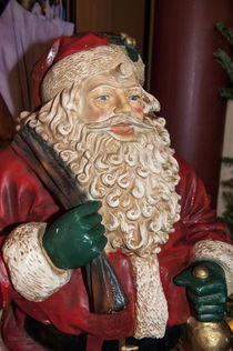 Santa Claus sculpture, Christmas market, Rudesheim, Germany by Danita Delimont