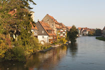 Little Venice and River Regnitz in Bamberg, Germany. von Danita Delimont