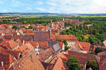 Rothenburg ob der Tauber, Bavaria, Germany, A view over the ... von Danita Delimont