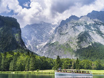 Boat excursion on lake Koenigssee, NP Berchtesgaden, Germany by Danita Delimont