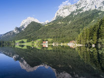 The romantic lake Hintersee at the NP Berchtesgaden, Germany von Danita Delimont