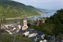 View over Bacharach, Rhine Valley, Germany by Danita Delimont