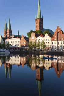 Old town and River Trave at Lubeck, Schleswig-Holstein, Germany von Danita Delimont