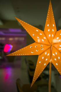 Germany, Berlin, Savigny Platz, Christmas star by Danita Delimont
