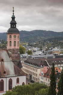 Germany, Baden-Wurttemburg, Baden-Baden, elevated town view by Danita Delimont