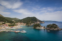 Greece, Epirus, Parga, elevated town view from the Venetian Castle by Danita Delimont