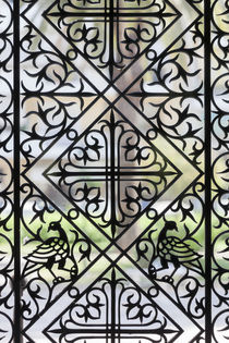 Greece, Peloponnese, Patra, Agios Andreas church, window latticework by Danita Delimont