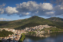 Greece, West Macedonia, Kastoria, above view of town by Lake... by Danita Delimont