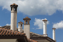 Greece, West Macedonia, Kastoria, Ottoman house, chimney detail by Danita Delimont