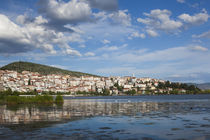 Greece, West Macedonia, Kastoria, view of town by Lake Orestiada by Danita Delimont