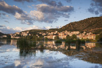 Greece, West Macedonia, Kastoria, view of town by Lake Orestiada, dawn by Danita Delimont
