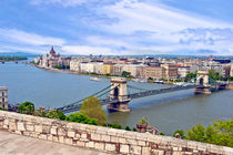 Budapest, Hungary, Scenic view of the Danube River and the H... von Danita Delimont