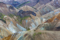 Landscape of a mountain range through Landmannalaugar, Iceland by Danita Delimont