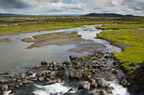 South Region. Thingvellir. Stream running through the park. von Danita Delimont