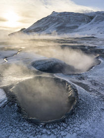 Geothermal area Hveraroend near lake Myvatn, Iceland. by Danita Delimont