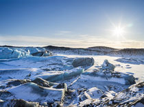 Svinafellsjoekull glacier in Vatnajoekull NP during Winter, Iceland by Danita Delimont