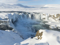 Godafoss during winter, Iceland by Danita Delimont