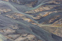 Aerial view of Hosa river colored by glacial melt, SW Iceland by Danita Delimont