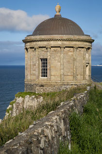 Mussenden Temple along the Atlantic coast near Castlerock, C... by Danita Delimont