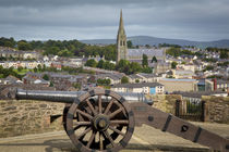 Medieval cannon along the wall surrounding old Londonderry w... by Danita Delimont