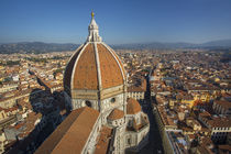 Overhead view of the Duomo and town of Florence, Tuscany, Italy von Danita Delimont