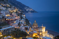 Twilight over Positano along the Amalfi Coast, Campania, Italy by Danita Delimont