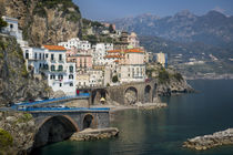 Seaside town of Atrani near Amalfi, Campania, Italy by Danita Delimont